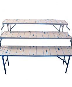 Monitasoiset pöydät myyntiin ja esillepanoon