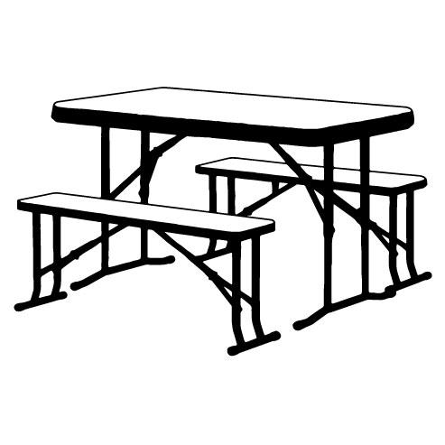Pöydät, penkit yms.