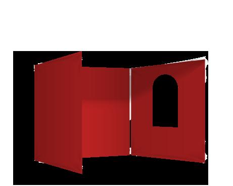 Punainen 3 umpiseinää ja ikkuna