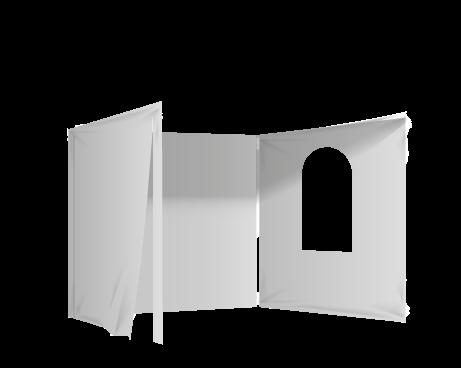 Harmaa 2 umpiseinää, ovi ja ikkuna