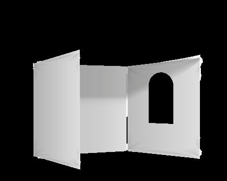 Harmaa 3 umpiseinää ja ikkuna