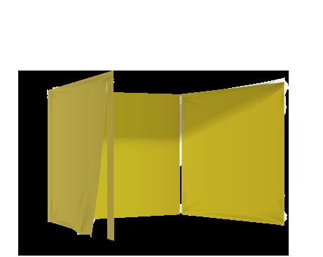 Keltainen 3 umpiseinää ja ovi