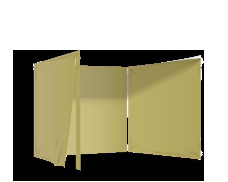 Kermanvalkoinen 3 umpiseinää ja ovi