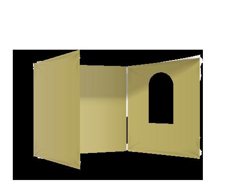 Kermanvalkoinen 3 umpiseinää ja ikkuna