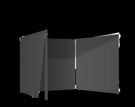 Musta 3 umpiseinää ja ovi