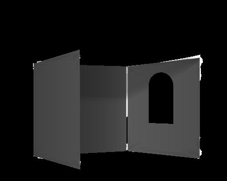 Musta 3 umpiseinää ja ikkuna