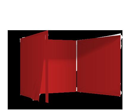Punainen 3 umpiseinää ja ovi