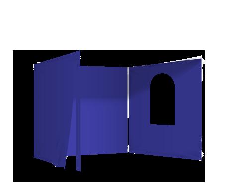 Sininen 2 umpiseinää, ovi ja ikkuna