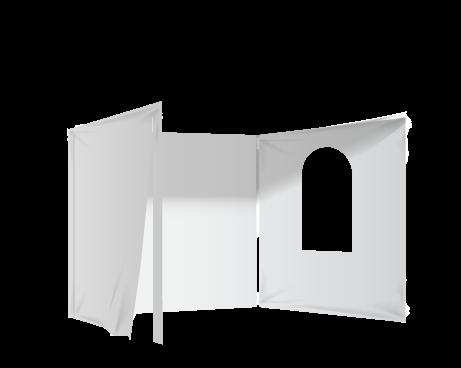 Valkoinen 2 umpiseinää, ovi ja ikkuna