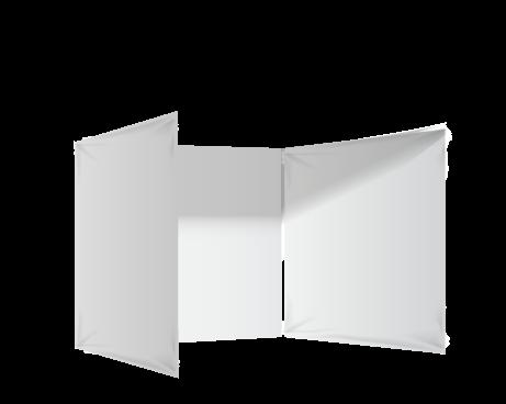 Valkoinen 3 umpiseinää ja ovi