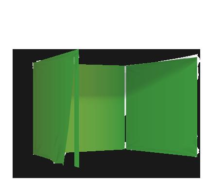 Vihreä 3 umpiseinää ja ovi